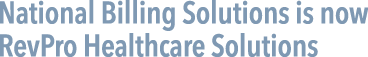 National Billing Solutions is now RevPro Healthcare Solutions